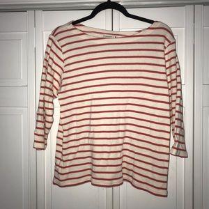L.L. Bean Stripe 3/4 Sleeve Shirt